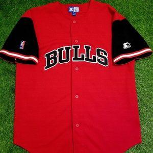Starter 90s Vintage Bulls Baseball Jersey